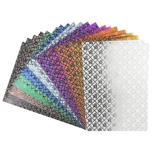 Effekt-Papier, Rosen-Design, metallic, DIN A4, 128g/m², 20 Blatt
