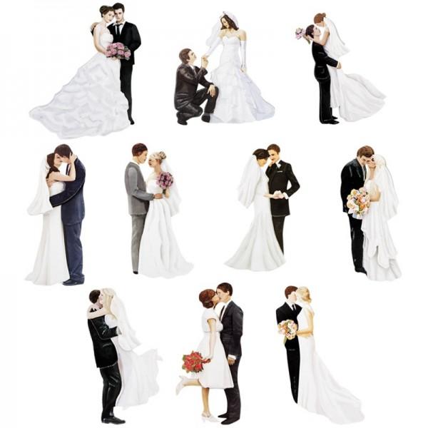 3-D Motive, Brautpaare, 5-11 cm, 10 Motive