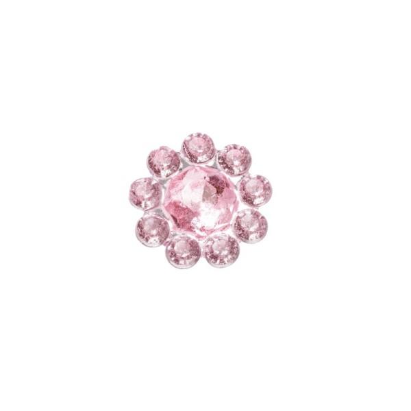 Ornament-Glitzersteine, Ø 9 mm, 50 Stück, rosa