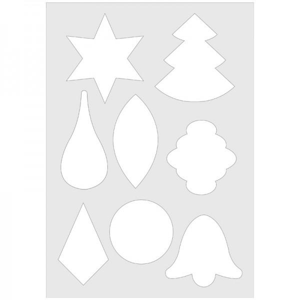 Waben-Schablone inkl. Anleitung/Klebevorlage, DIN A4, Weihnachten