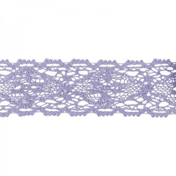 Häkelspitze Design 9, 3,7cm breit, 2m lang, flieder