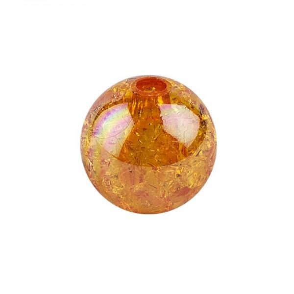Perlen, Crackle, Ø 8mm, orange-irisierend, 100 Stk.