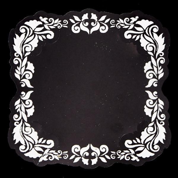 Kristall-Folie, 15x15cm, ausgestanzt, 10er Set, Design 1