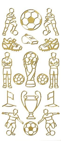Sticker, Motiv Fußball, gold
