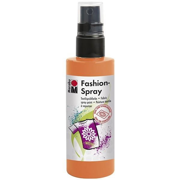 Marabu Fashion-Spray/Textil-Sprühfarbe, 100ml, mandarine