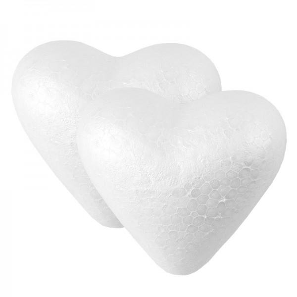Styropor-Herzen, 10cm, 2 Stück