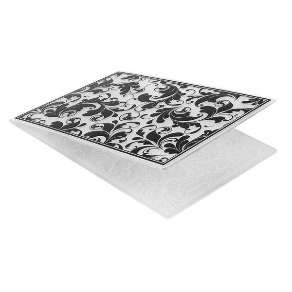 Prägeschablone, Hintergrund Ornamentik 2, 15cm x 10cm, passend für gängige Präge- & Stanzmaschinen