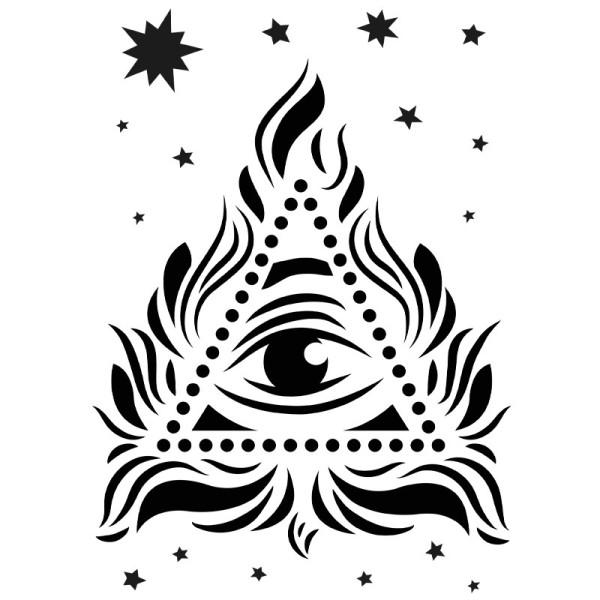 Laser-Kunststoff-Schablone, DIN A4, Augen-Blick