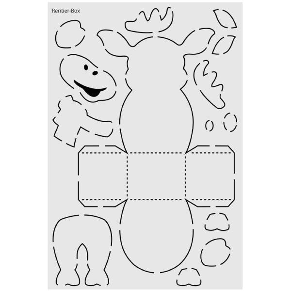 "Design-Schablone Nr. 6 ""Rentier-Box"", DIN A4"
