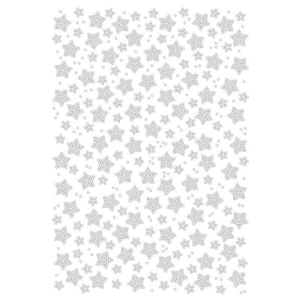 Bügelstrass-Design, DIN A4, klar, Sterne 3