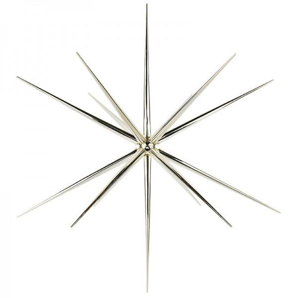 3-D Steckstern, Ø 36cm, 14-strahlig, inkl. Öse zum Aufhängen, hellgold
