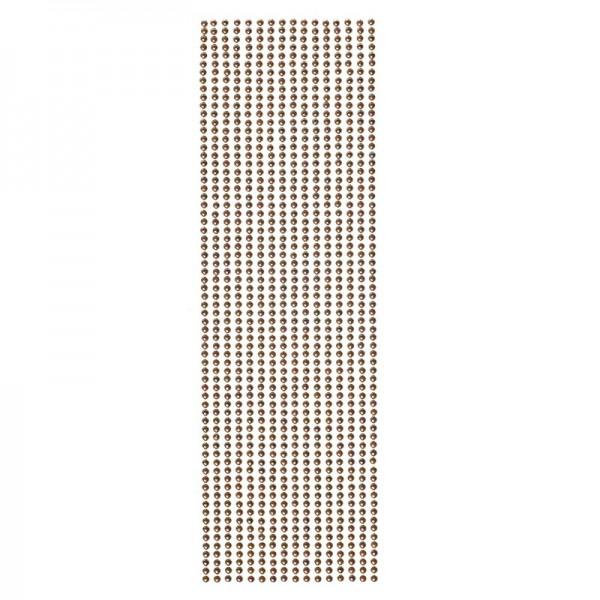 Halbperlen-Bordüren, selbstklebend, Ø4mm, 29cm, 16 Stück, taupe-irisierend