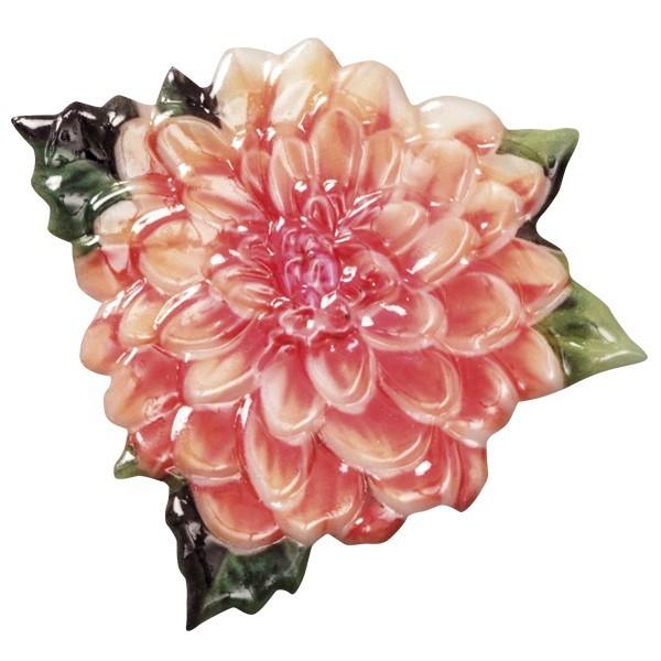 Wachsornament Blütenpracht 9, farbig, geprägt, 8cm