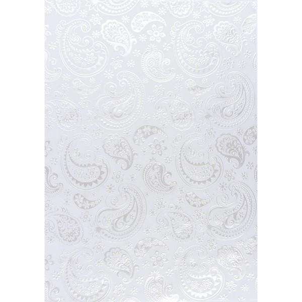 Transparentpapiere, Nova Noblesse 4, mit Top-Prägung & Perlmuttlack, DIN A4, 5 Bogen, weiß