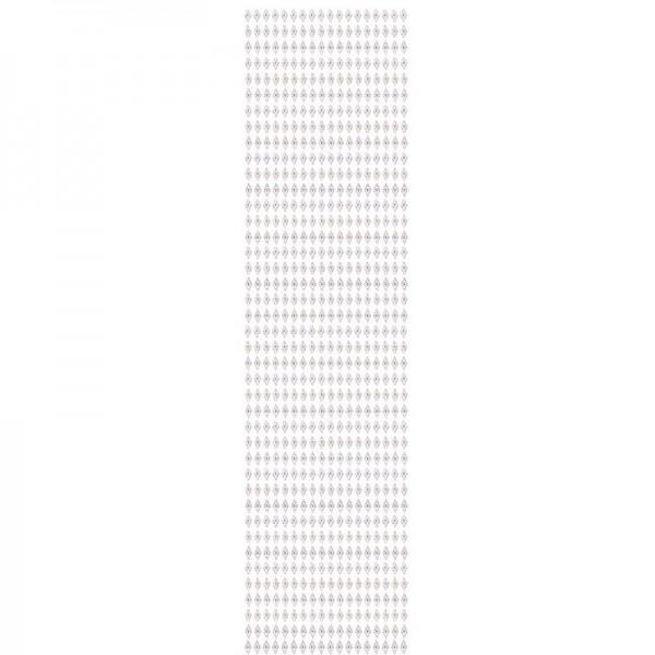 Schmuckstein-Bordüren, selbstklebend, facettiert, irisierend, 29cm, Rauten, weiß