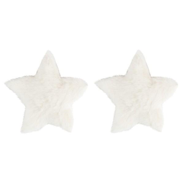 Fell-Sterne, Ø 11cm, naturweiß, 2 Stück