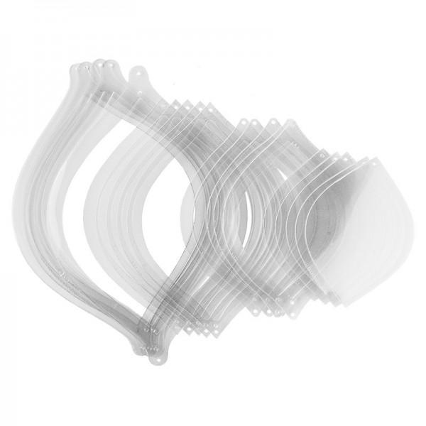 Windradfolien, Ellipse, Windradfolien-Rahmen & Windradfolien-Scheiben,transparent, 20 Stück