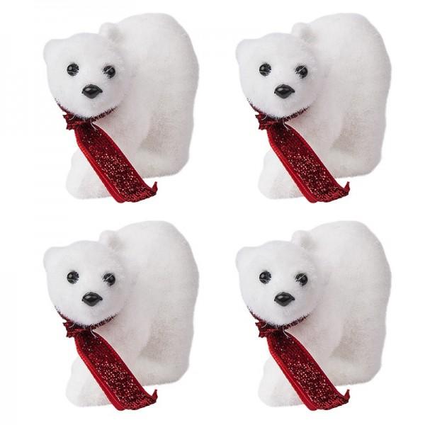 Deko-Eisbären, 8,5cm x 6cm, 4 Stück
