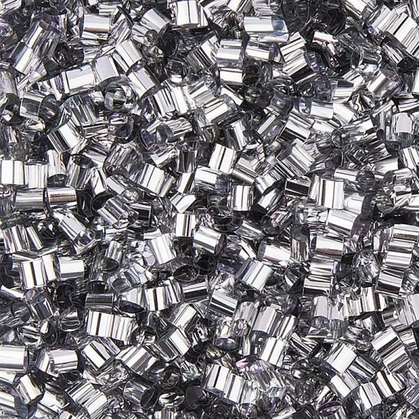 Metallic-Rondelle, Streu-Deko, 15g, silber