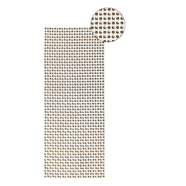 Schmuck-Netz, selbstklebend, 12 x 30 cm, Bi-Color, braun/silber