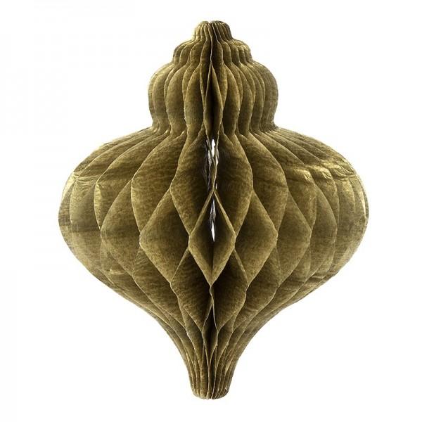 Waben-Zwiebeln zum Aufhängen, 8,5 cm x 7 cm, 6 Stück, altgold