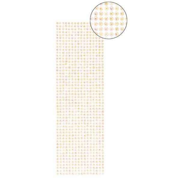 Schmuckstein-Bordüren, selbstklebend, facettiert, irisierend, Ø5mm, 29cm, 16 Stück, lachs