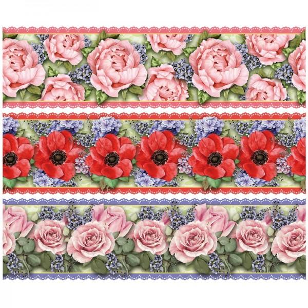 """Zauberfolien """"Zauberhafte Blüten"""", Schrumpffolie für Ø10cm, 9 cm hoch, 6 Stück"""
