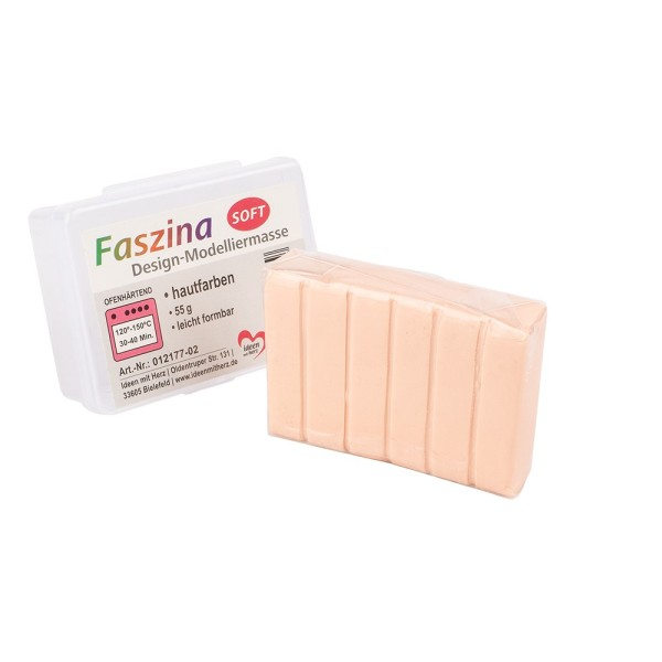 Faszina Soft, Design-Modelliermasse, hautfarben, 55g, leicht formbar, ofenhärtend