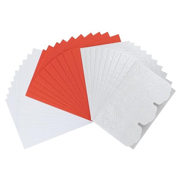 """Deluxe-Grußkarten """"Spitzenbordüre"""", B6, 10 Stück, inkl. Einleger & Umschläge"""