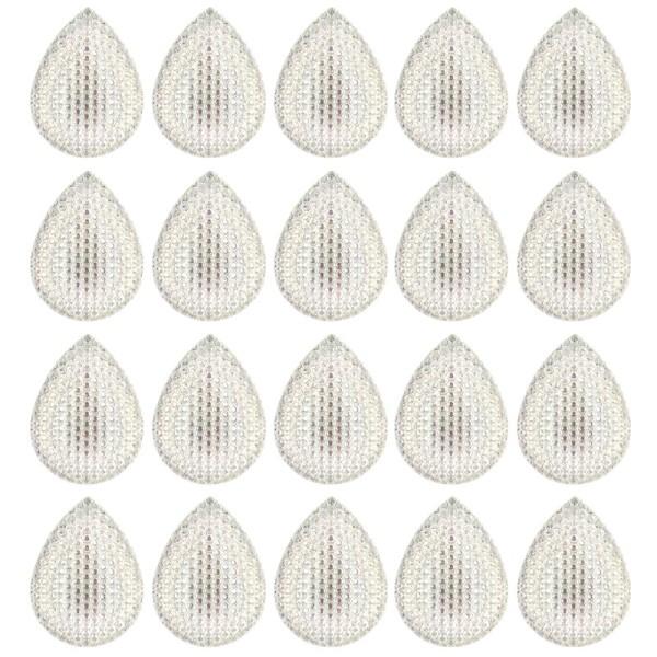 Kristallkunst-Schmucksteine, Tropfen 2, 4cm x 3cm, klar irisierend, 20 Stück