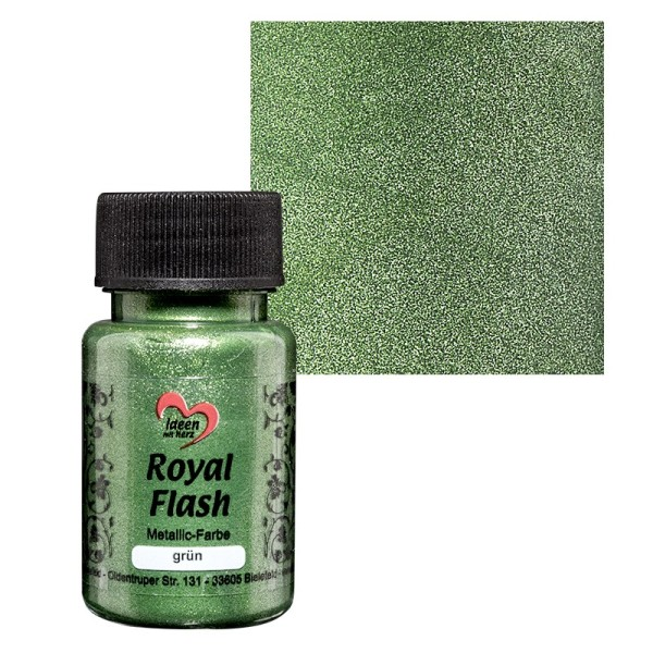 "Metallic-Farbe ""Royal Flash"", grün, 50ml"