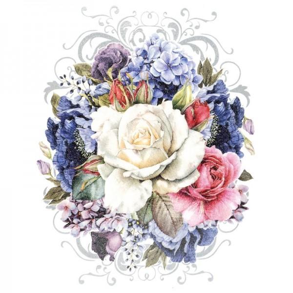 Color Bügeltransfer, Glitzer, DIN A4, Blumen 1