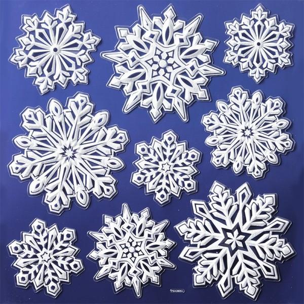 Glimmer-Relief-Sticker XL, Winter 4, 31 x 30 cm