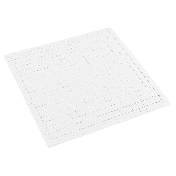 Klebepads, 5mm x 5mm, 2mm hoch, 400 Stück, weiß