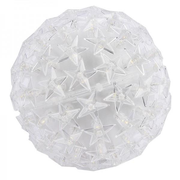 LED-Leuchtkugel Stern, Ø 14cm, warmweiß, mit 100 LED-Lämpchen, inkl. Timerfunktion