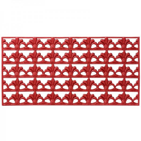 Wachs-Bordüren, Französische Lilie, 5 Bordüren à 2 x 10 cm, rot