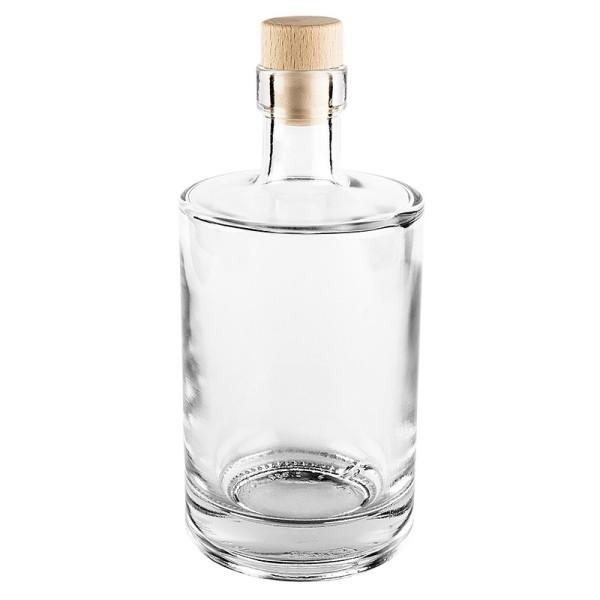 Glasflasche mit Korken, Ø 8,5cm, 500 ml