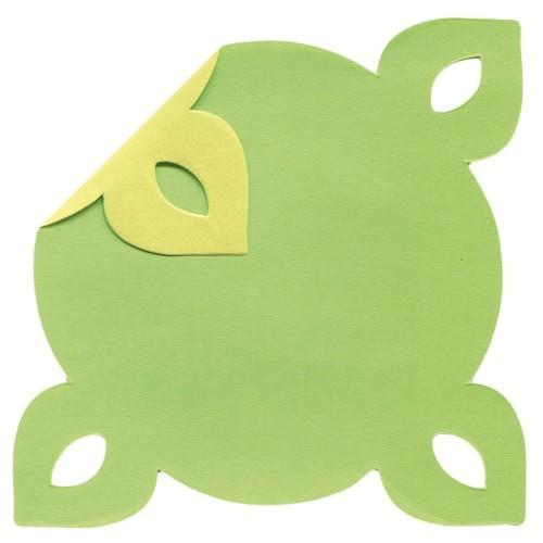 DuoColor Stanz-Faltpapiere, 8 x 8 cm, grün, 4 Ecken, 100 Blatt