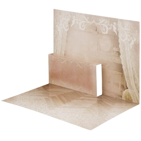 Pop-Up-Grußkarten-Einleger, gefaltet 11 x 15,5 cm, Schlafzimmer