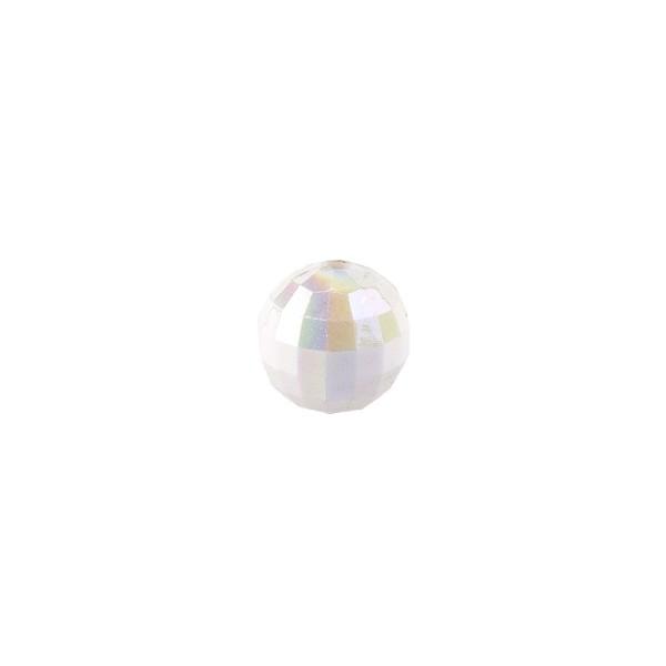 Perlen, facettiert, Ø 4mm, weiß-irisierend, 200 Stk.