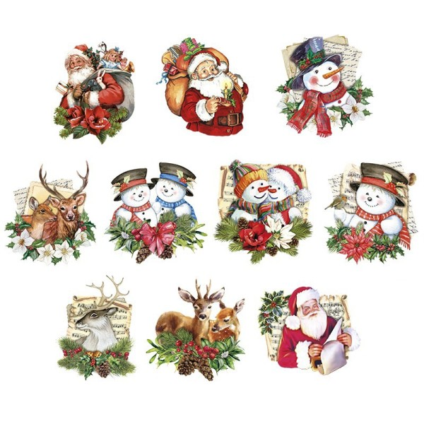 3-D Motive, Winterfreunde, 7-9cm, 10 Motive