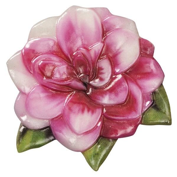 Wachsornament Blütezeit 8, farbig, geprägt, 7cm