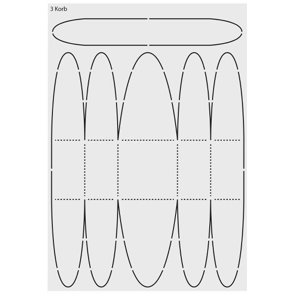 "Design-Schablone ""Korb"", DIN A3"