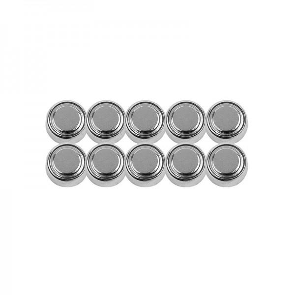Knopfzellen-Batterien, Alkaline 1,5V AG13/LR44, 10 Stück