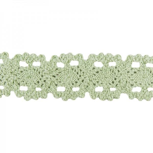 Häkelspitze Design 10, 3,2cm breit, 2m lang, grün