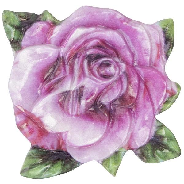 Wachsornament Blume 10, farbig, geprägt, 7cm