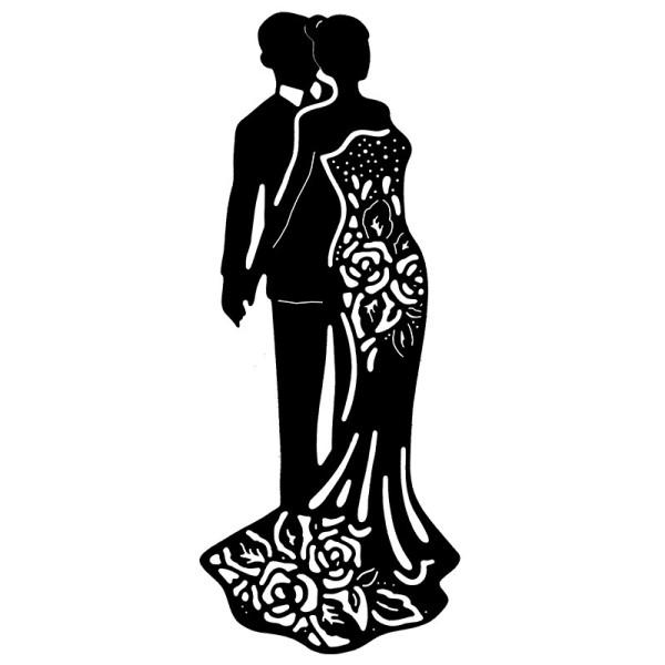Stanzschablone, Festliches Paar, 6cm x 14,6cm