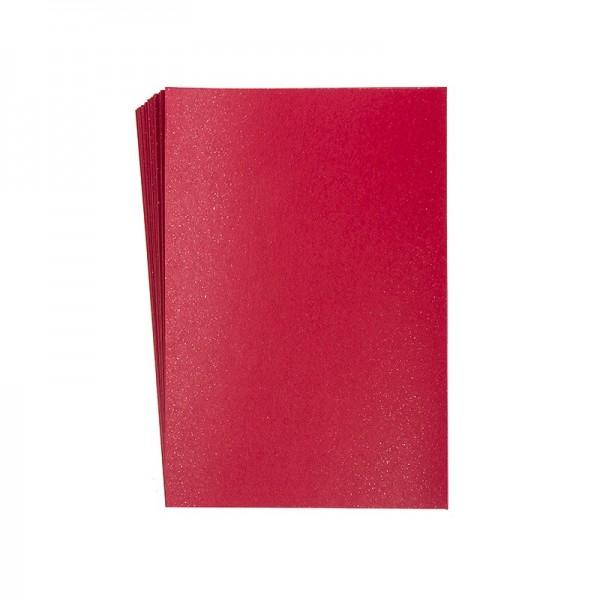 "Faltpapiere ""Nova 6"", 10x15cm, 50 Stück, glitzer-rot"