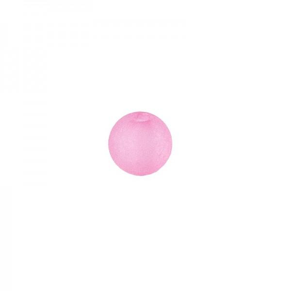 Perlen, gefrostet, Ø 4mm, 200 Stück, rosa