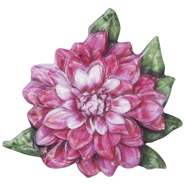 Wachsornament Blume 5, farbig, geprägt, 7cm